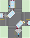 Pay Attention to Motorists  Making Right-Hand Turns