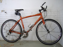 Unclaimed ridable bike for auction