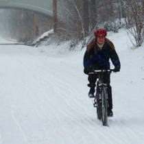 Biking in the winter