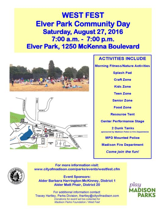West Fest Elver Park Community Date