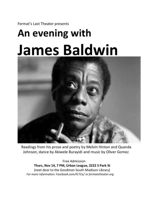 An Evening with James Baldwin flyer