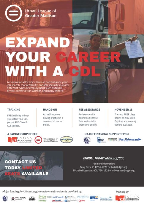 CDL training flyer