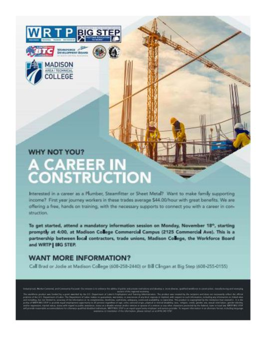 A Career in Construction flyer