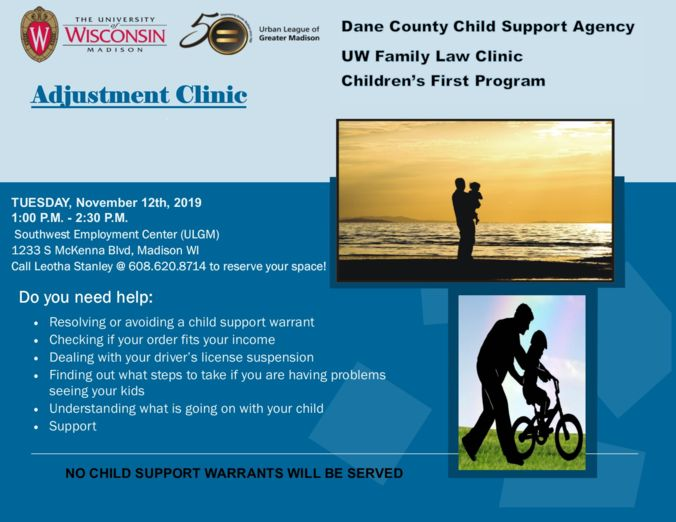 Fatherhood adjustment clinic flyer