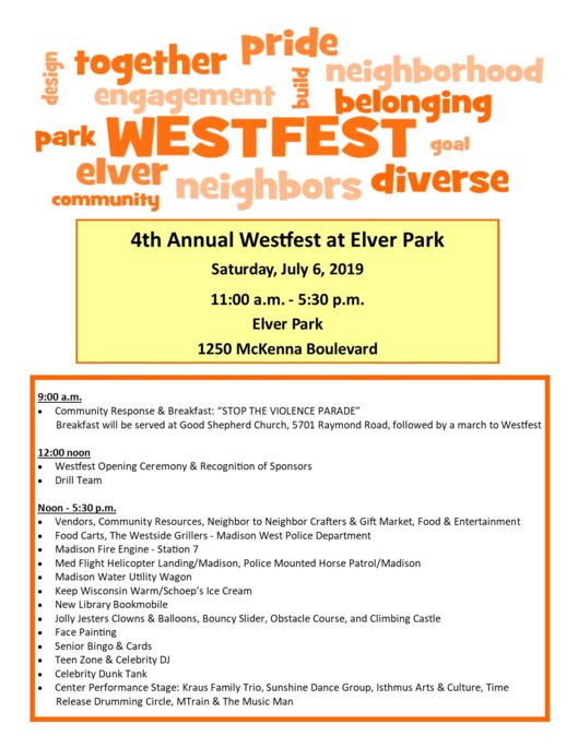 Westfest word cloud flyer