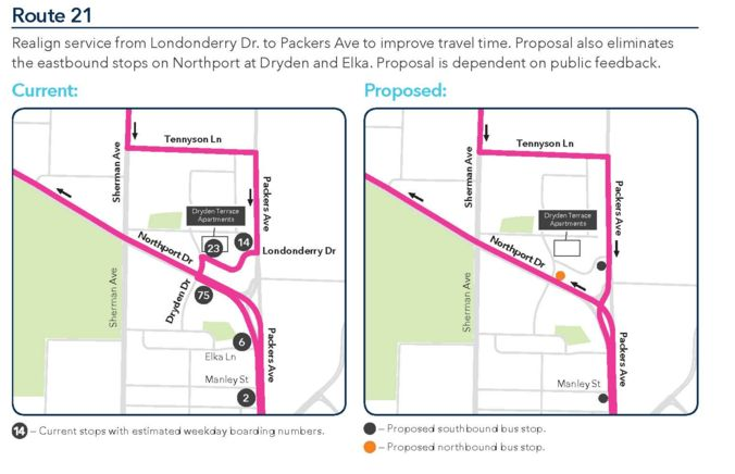 Route 21 Proposed Changes