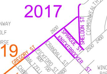 Gregory Street Reconstruction Map
