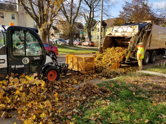 Leaf collection machines