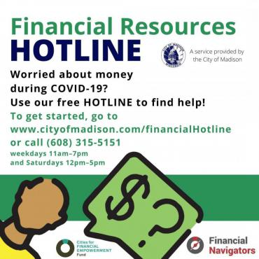 Financial Resources Hotline Graphic