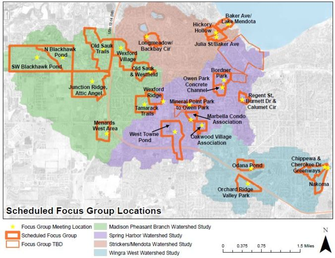 map of focus group area
