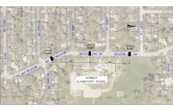 meadowlark speed humps 2020 proposal