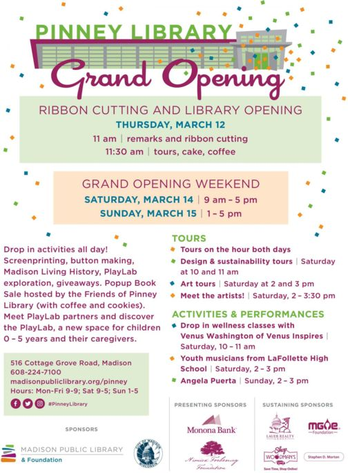 Pinney Grand Opening poster