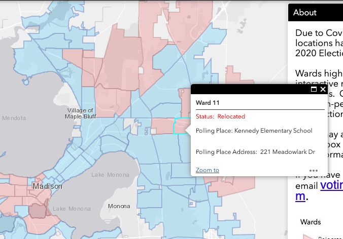 image of map of changed polling locations