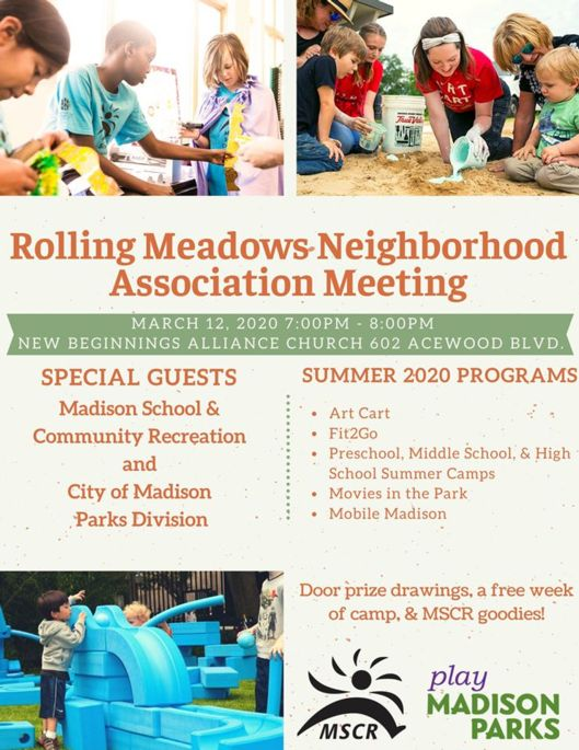 Rolling Meadows March Meeting flyer