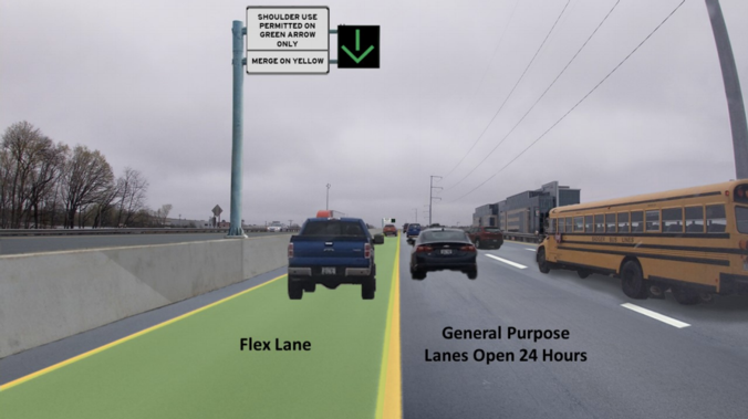 rendering of the future flex lane