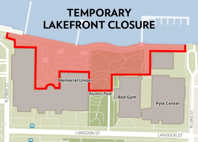Lakefront Closure Map