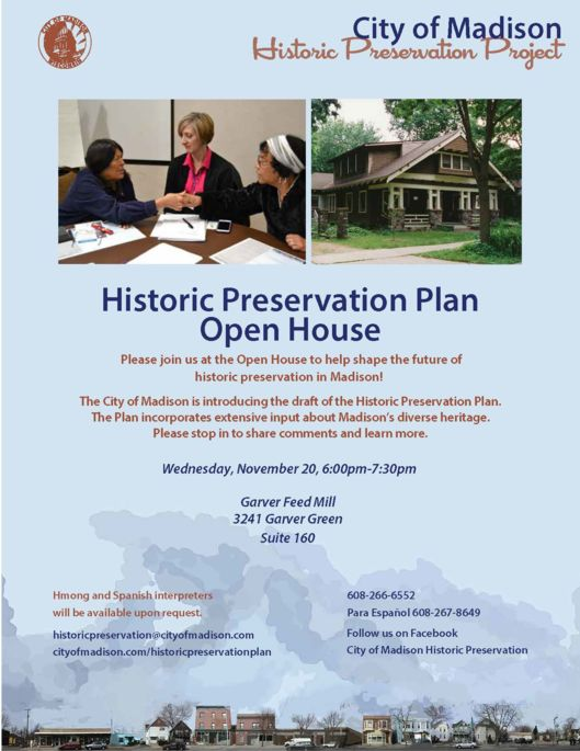November 20 Open House Flyer