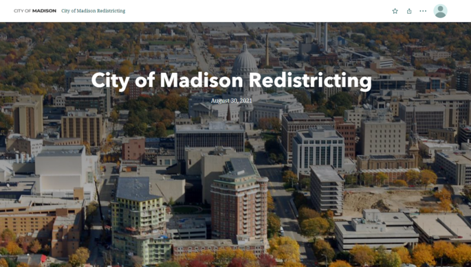 Redistricting story map
