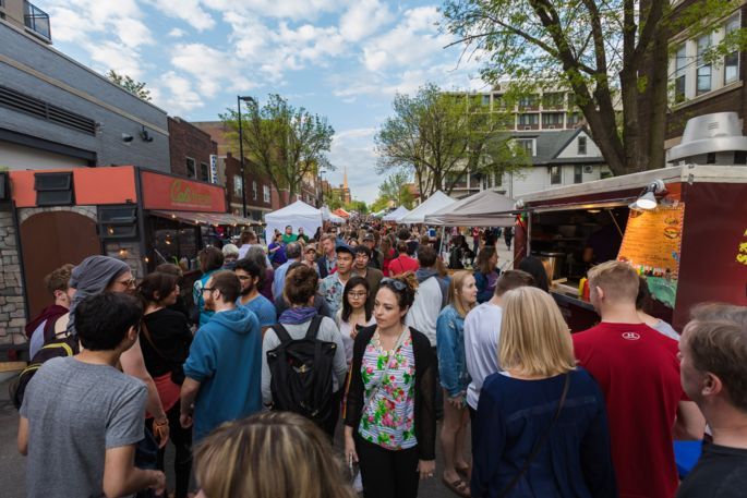 Madison Night Market on Gilman Street  (Photo courtesy of Madison's Central Business Improvement District)