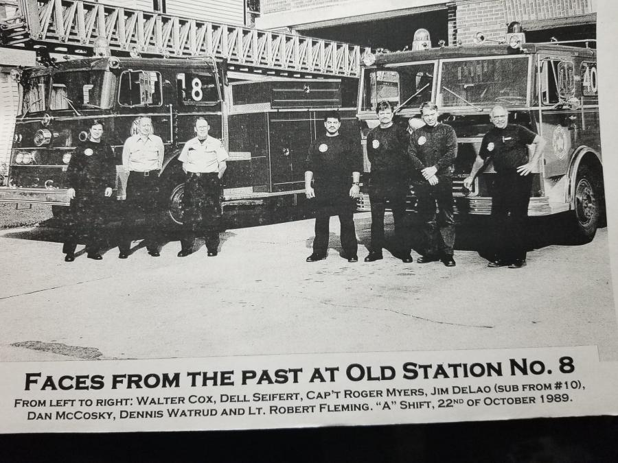 McCosky with crew at old Station 8