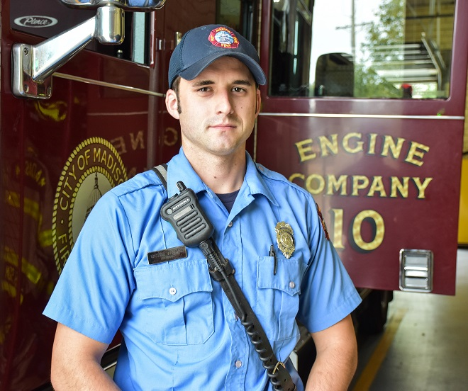 Firefighter Brennan Boughton