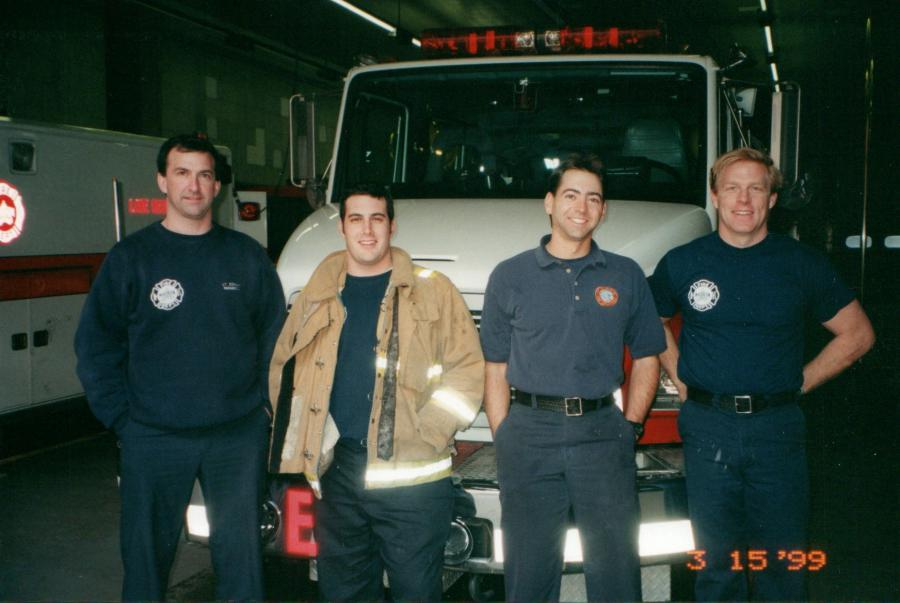 Christenson and Engine 1 crew - 1999