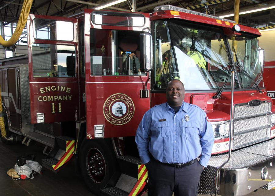 Firefighter Jonathan Clinkscale