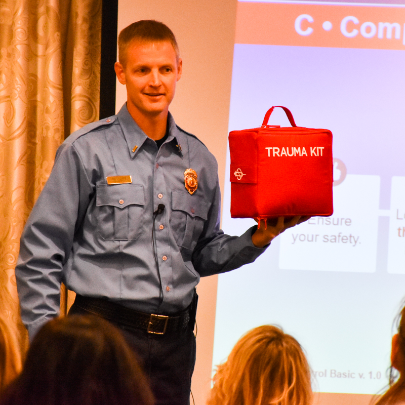 Lt. Dan Williams with Trauma Kit