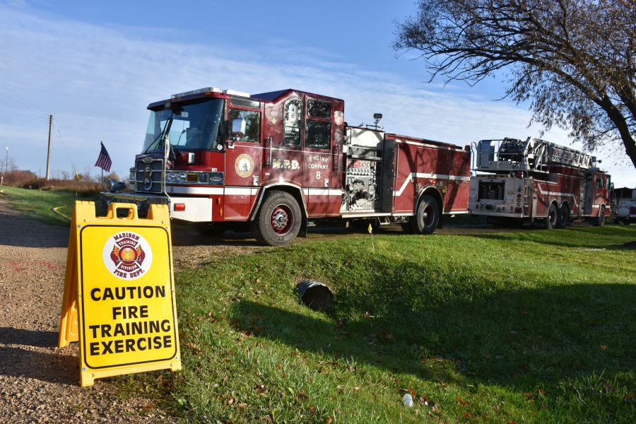 Training Exercise sign