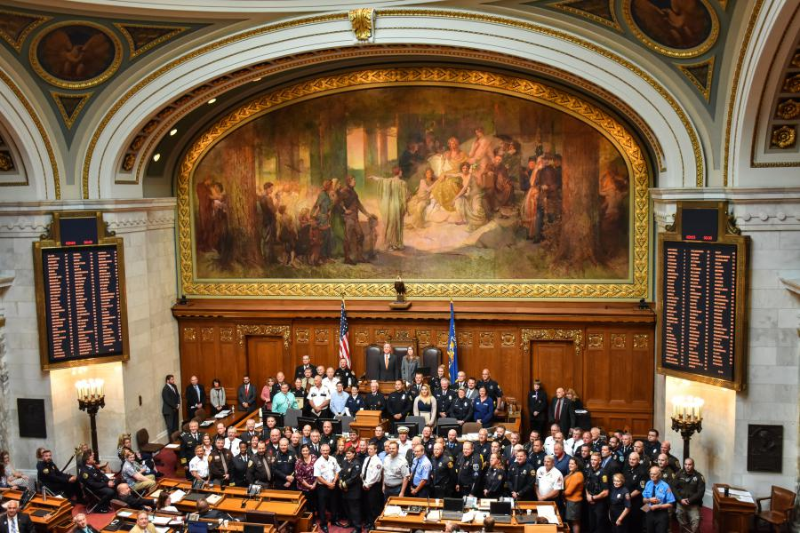 First Responders On State Assembly Floor
