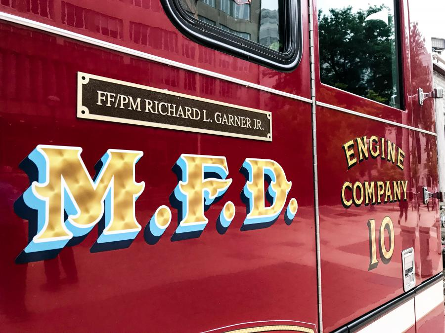 Engine 10 plaque
