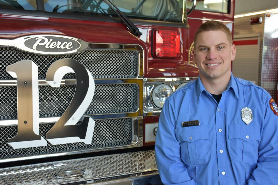 Firefighter Ryan Raisbeck
