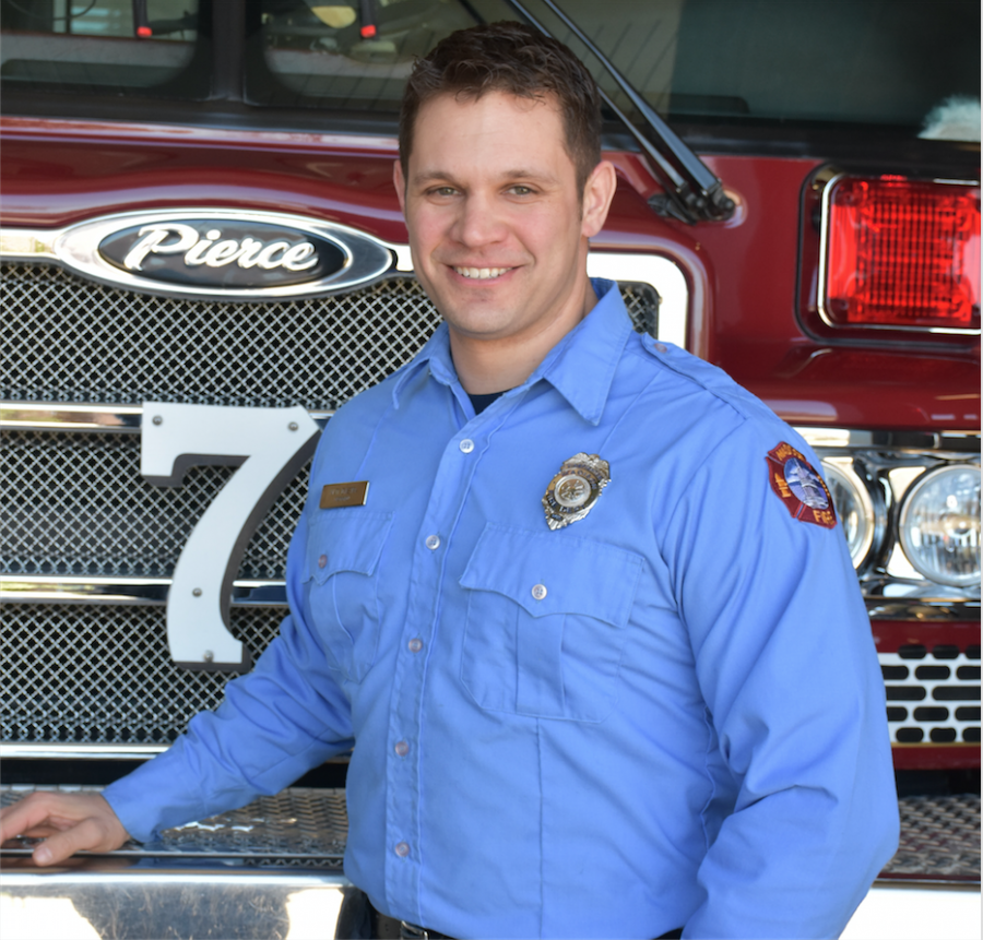 Firefighter Matthew Dykstra