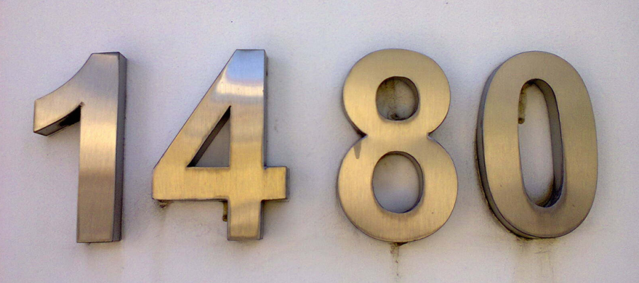 House number example