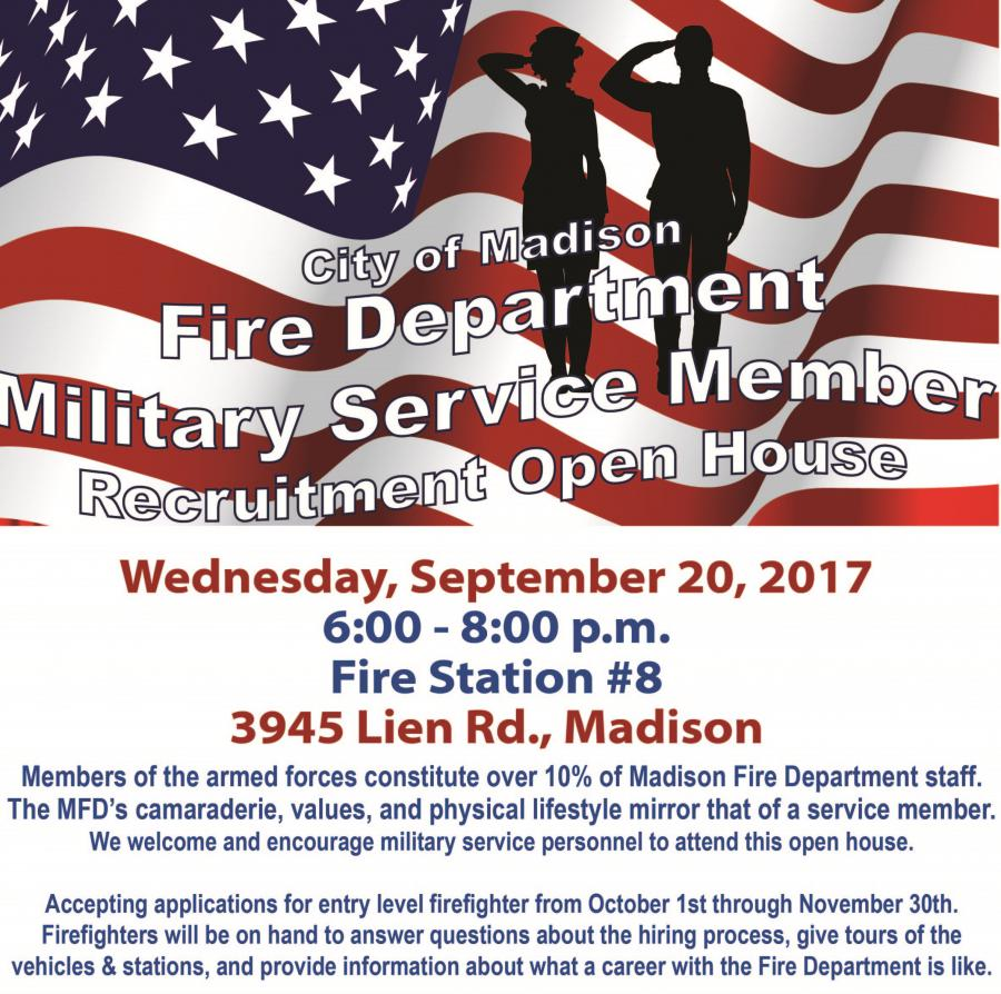 Military Service Member open house poster
