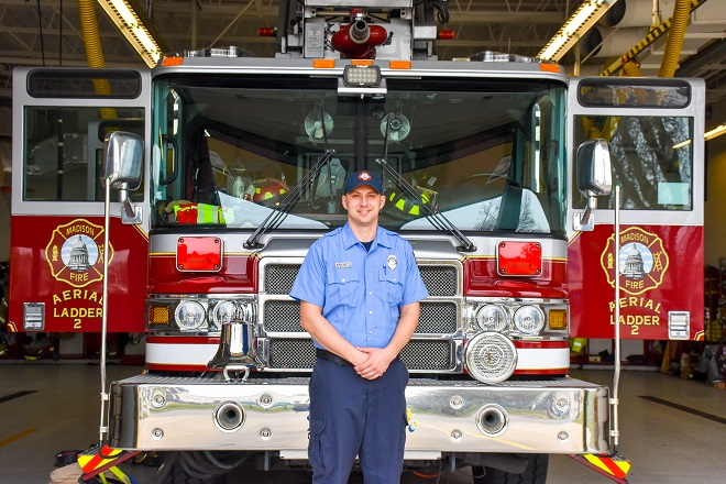 Firefighter Rob Wand