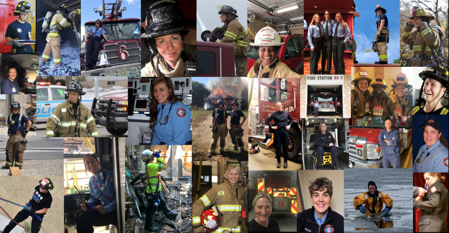 collage of active women at MFD