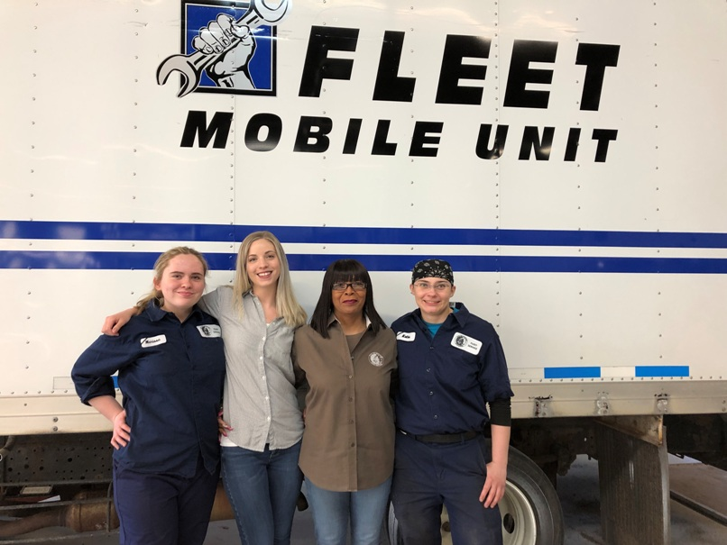 Female employees of Fleet