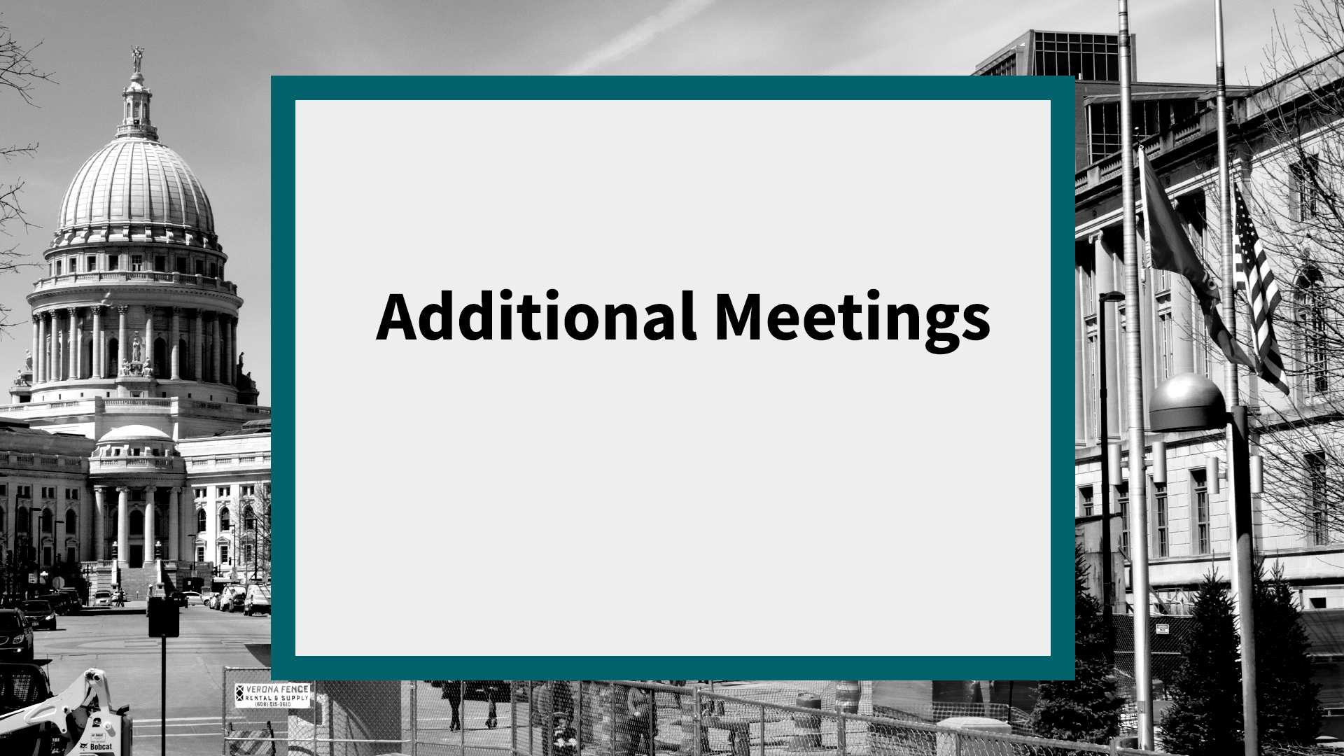 Additional Meetings