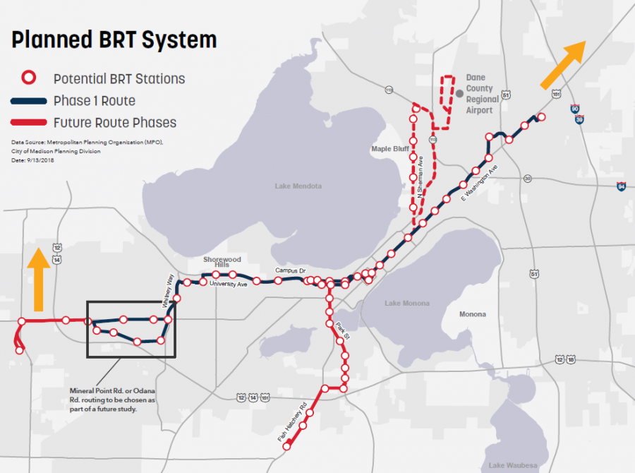 Planned BRT routes
