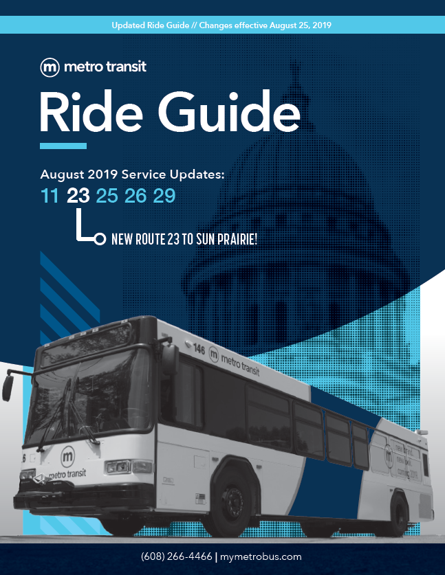 Metro's March 2019 Ride Guide Cover