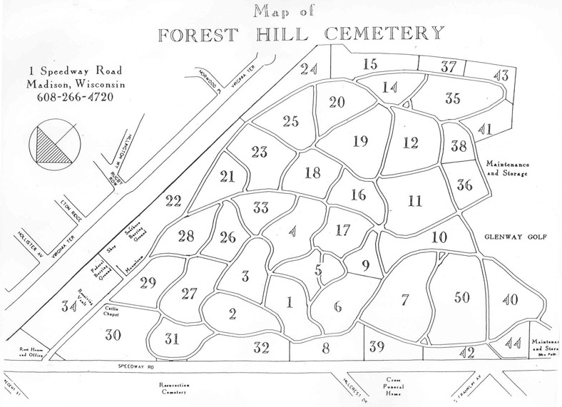 Forest Hill Cemetery map