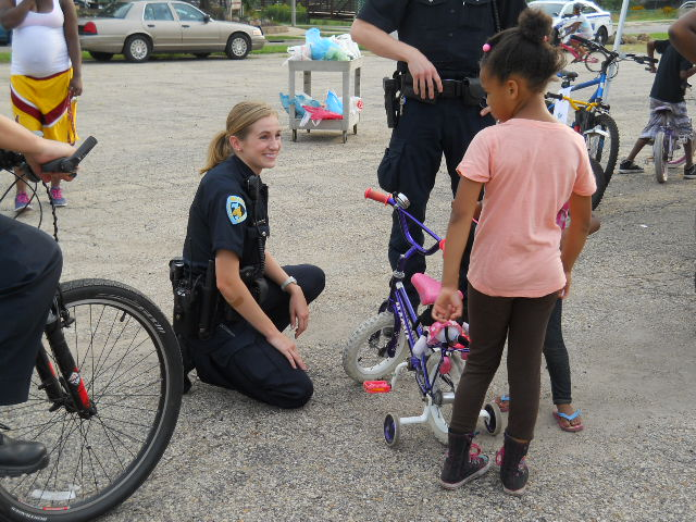 Officer Kristin Parks at the 2015 Bike Rodeo