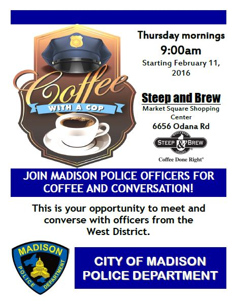 Coffee with a cop flyer