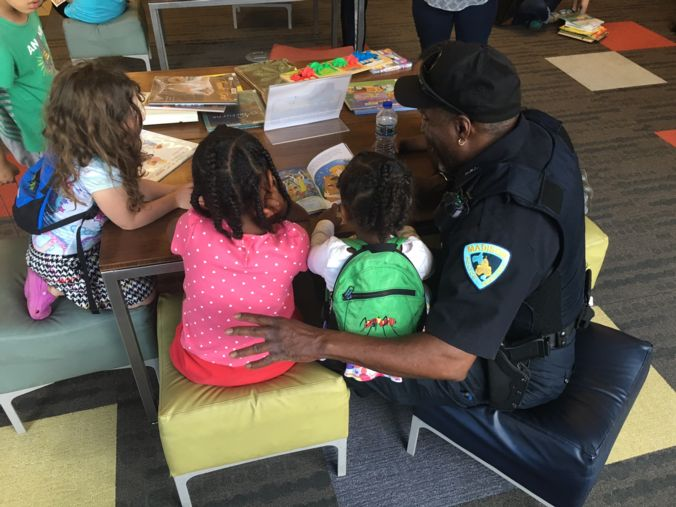 Read with a cop photo