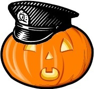 Pumpkin with Police Cap