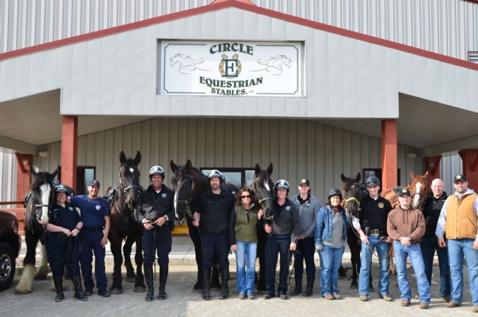 Madison Mounted Unit training with Green Bay and Milwaukee