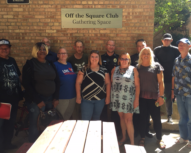 Off the Square Club with Mental Health Unit officers