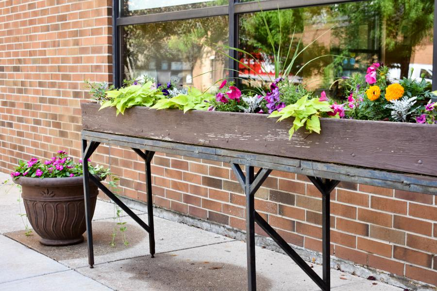 flower box on patio,  photo credit: City of Madison
