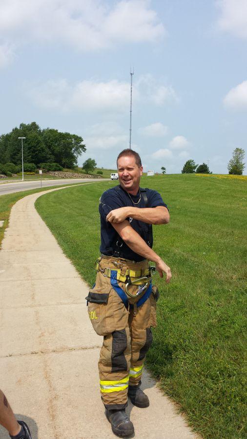 Lt. Larson returns from the sewer